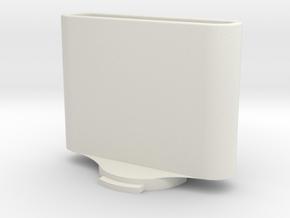 AppleTV 4th Gen / 4K Remote Holder with Wahoo Elem in White Natural Versatile Plastic