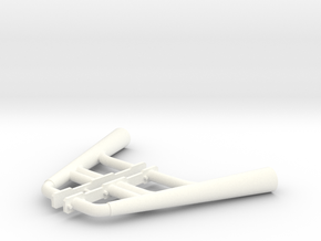 1:8 Small Block Chevy Custom Headers in White Processed Versatile Plastic