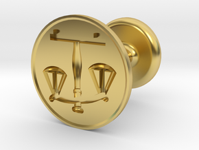 Scales of Justice Seal in Polished Brass