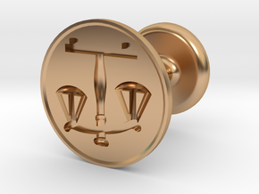 Scales of Justice Seal in Polished Bronze