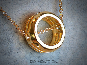 Embrace ::: Circle Pendant ::: v.01 in 14k Gold Plated Brass