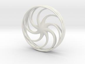 Anemone Pendant in White Natural Versatile Plastic