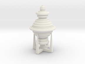 Vase SwW in White Natural Versatile Plastic