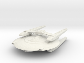 Federation KittyHawk Class VII refit  BattleCruise in White Natural Versatile Plastic