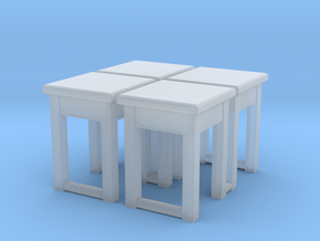 TT - Kitchen Stool 01 4 pcs. v.2 - 1:120 in Smooth Fine Detail Plastic
