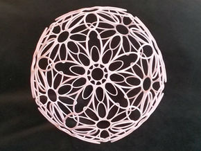 DodecaFlower (Large 145mm) in White Natural Versatile Plastic