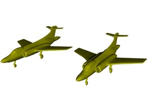 1/350 scale Blackburn Buccaneer aircraft model x 2 in Smooth Fine Detail Plastic