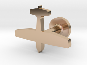 Cessna 172 (Flat) in 14k Rose Gold Plated Brass