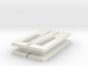 Snap-Fit Earbud Organizer in White Natural Versatile Plastic