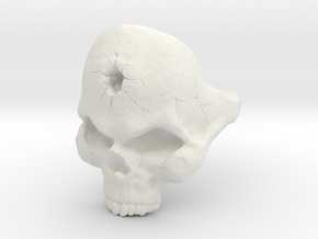 Skull_Ring-Bullet-8 in White Natural Versatile Plastic