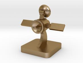 Mini Space Program, Orbiter Probe in Polished Gold Steel