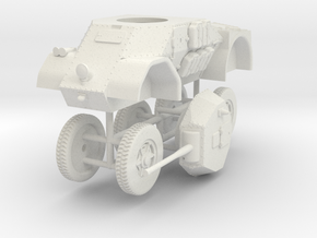 1/72 Autoblinda AB.42 (47mm) in White Natural Versatile Plastic