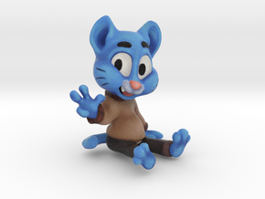 Rad blue cat in Full Color Sandstone