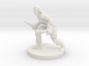 Half Elf Rogue in White Natural Versatile Plastic