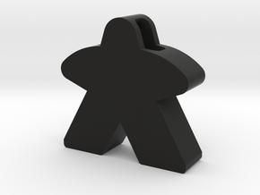 Meeple Pendant in Black Premium Versatile Plastic