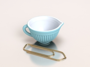 Mixing Bowl for Your Dollhouse, 1:12 scale in Smoothest Fine Detail Plastic