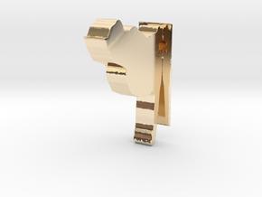 Cat model in 14k Gold Plated Brass