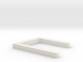 Rune_Uruz in White Natural Versatile Plastic
