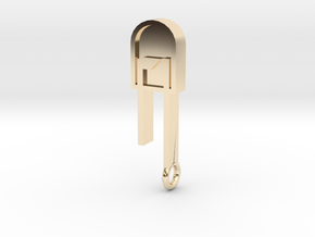 LED Pendant  in 14k Gold Plated Brass