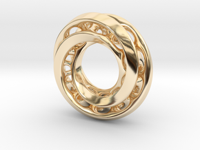 Mobius Pair in 14k Gold Plated Brass