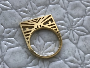 Screaming Warrior ring in 14k Gold Plated Brass