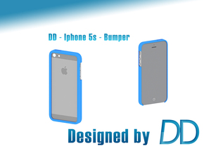 DD - Iphone 5/5S - Bumper in Blue Strong & Flexible Polished