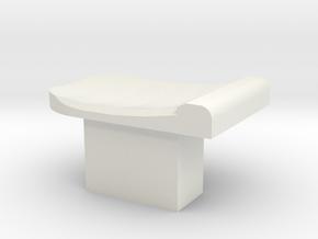 Longshot Upgraded Mag Release  in White Natural Versatile Plastic