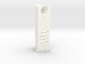Rain Stone Pendant in White Processed Versatile Plastic