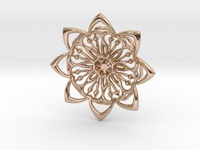 8PFlower in 14k Rose Gold Plated Brass