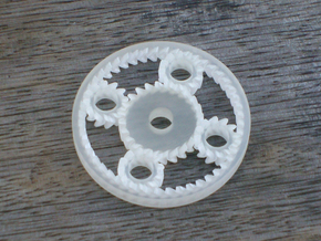 Planetary Gears desk toy in Smooth Fine Detail Plastic