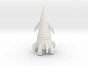 Davids Rocket  Scout Class in White Natural Versatile Plastic