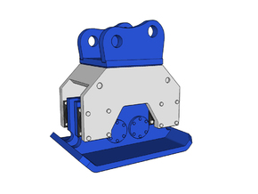 HO - Compactor for 20-25t excavators in Smooth Fine Detail Plastic