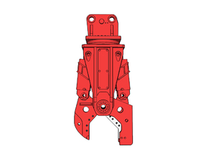 HO - Steel Shear for 25-35t excavators in Smooth Fine Detail Plastic