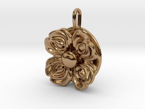 Floral Spinner Pendant in Polished Brass (Interlocking Parts)