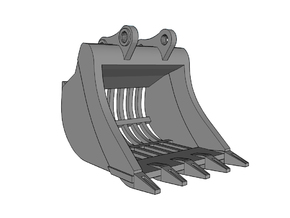 "HO - Bucket ""Skeleton"" for 20-25t excavators in Smooth Fine Detail Plastic"