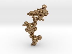 ATP Molecule Pendant in Natural Brass: Small