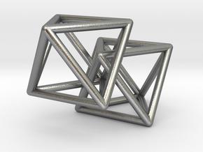Interlocking Octahedron in Natural Silver (Interlocking Parts)