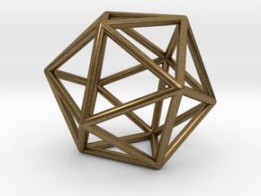 Icosahedron in Natural Bronze