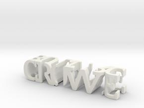 3dWordFlip: crowe/bulit rc in White Natural Versatile Plastic