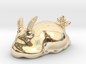 Jorunna sp.2. in 14k Gold Plated Brass: Small