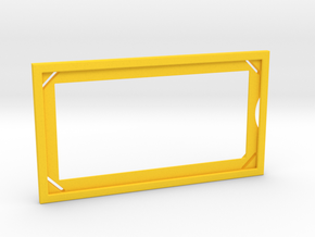 Stern Steel Apron Rule Card Surround v3 in Yellow Processed Versatile Plastic