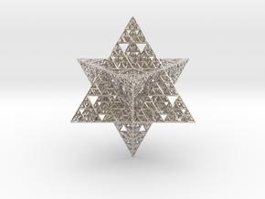 Sierpinski Merkaba 12 cm (downloadable) in Platinum