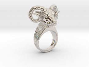 Ring Aries  in Rhodium Plated Brass