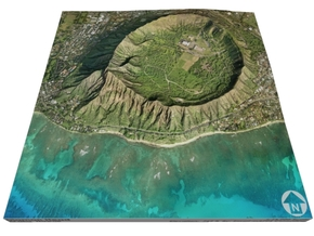 "Diamond Head, Hawaii: 6""x6"" in Glossy Full Color Sandstone"