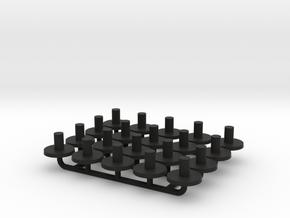 N Gauge Replacment Graham Farish Bolster Pins x20 in Black Natural Versatile Plastic