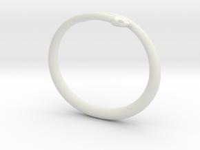 """Bracelet """"Snake"""" in White Natural Versatile Plastic: Small"""