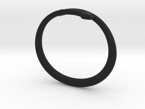 "Bracelet ""Snake"" in Black Premium Versatile Plastic: Small"