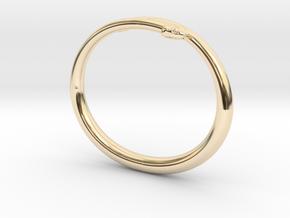 "Bracelet ""Snake"" in 14k Gold Plated Brass: Small"