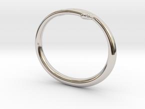 "Bracelet ""Snake"" in Rhodium Plated Brass: Small"