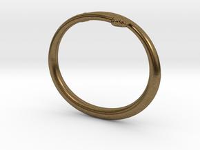 "Bracelet ""Snake"" in Natural Bronze: Small"